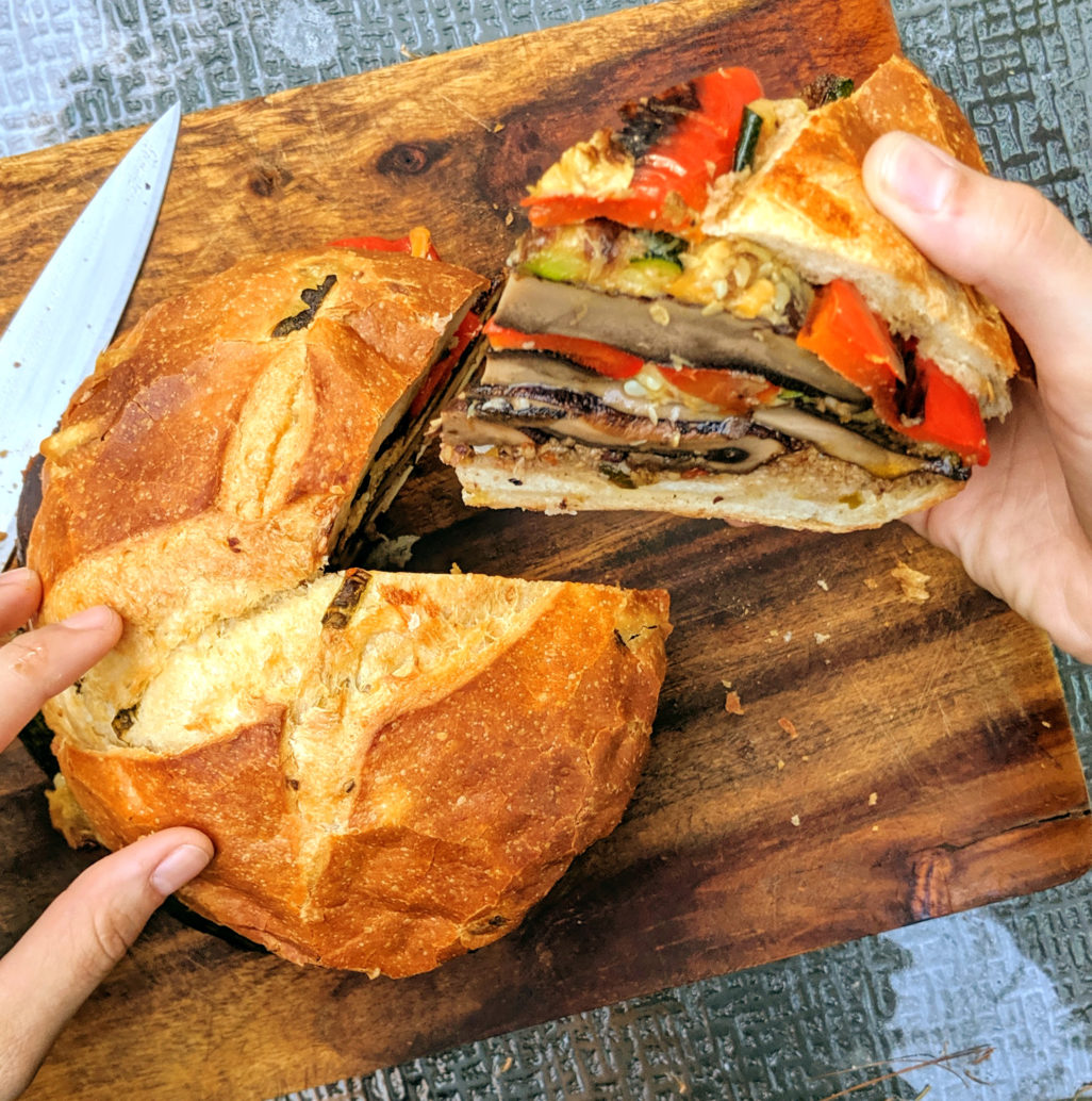 Roasted Veggie Muffaletta