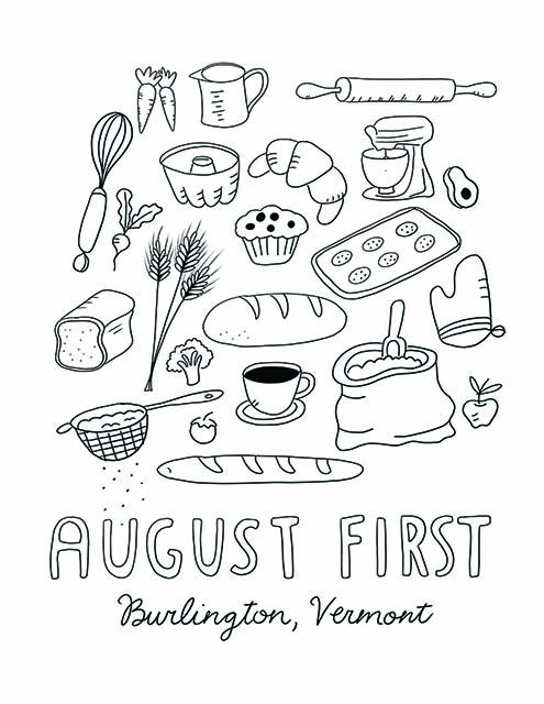 AUGUST FIRST COLORING BOOK: COLLAGE