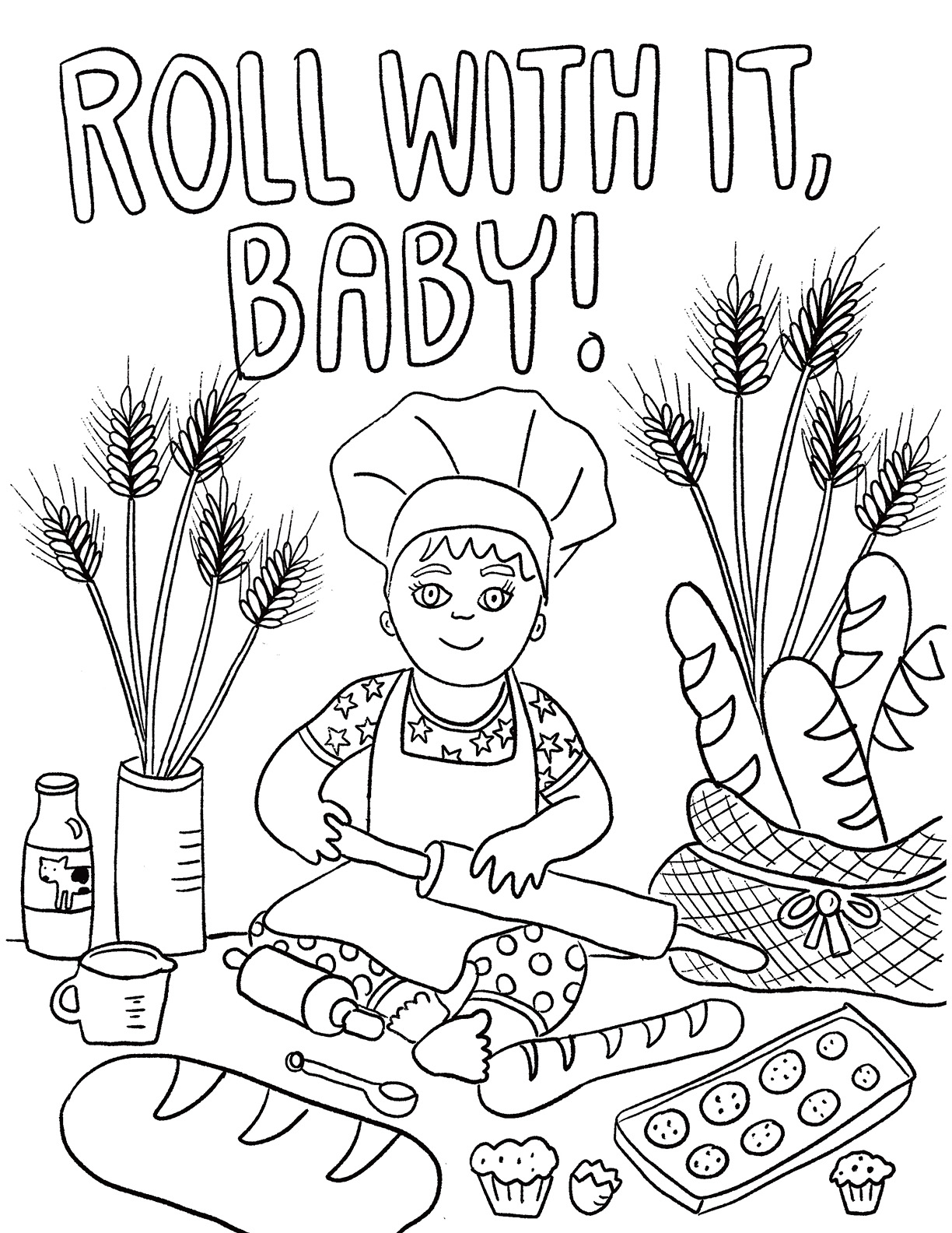 AUGUST FIRST COLORING BOOK: ROLL WITH IT