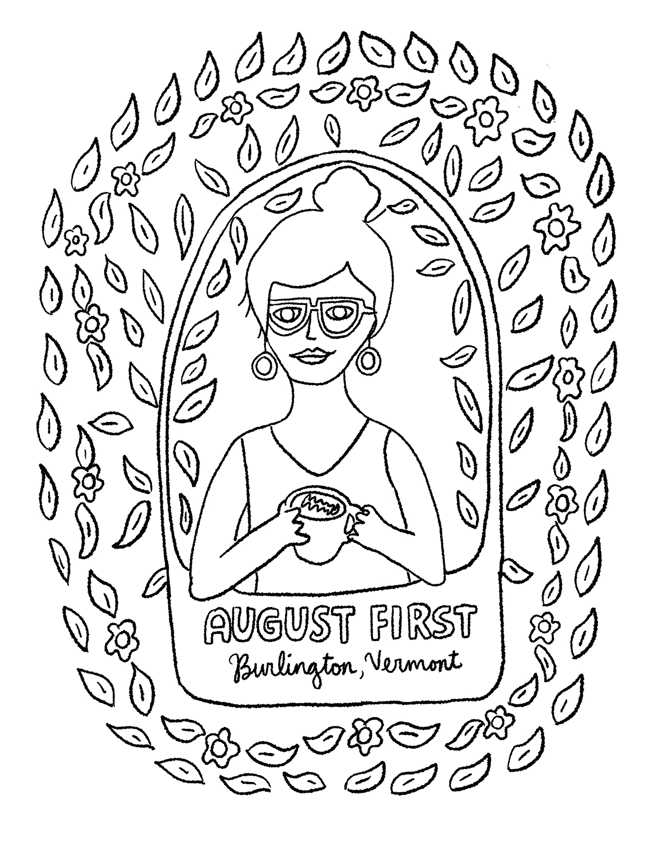 AUGUST FIRST COLORING BOOK: WOMAN