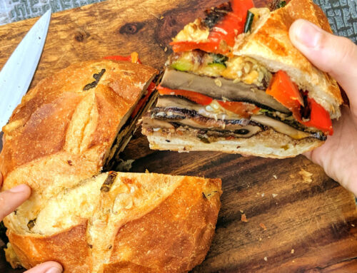 August First at Home: Roasted Vegetable Muffaletta
