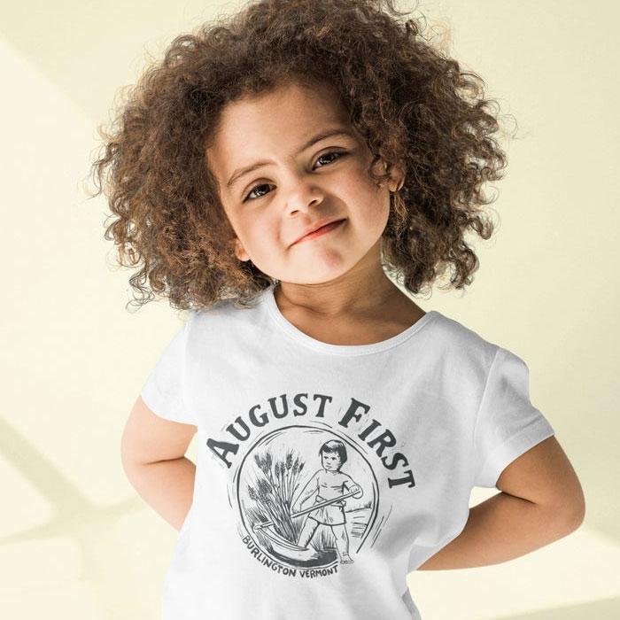 August First Kids Tee Shirts
