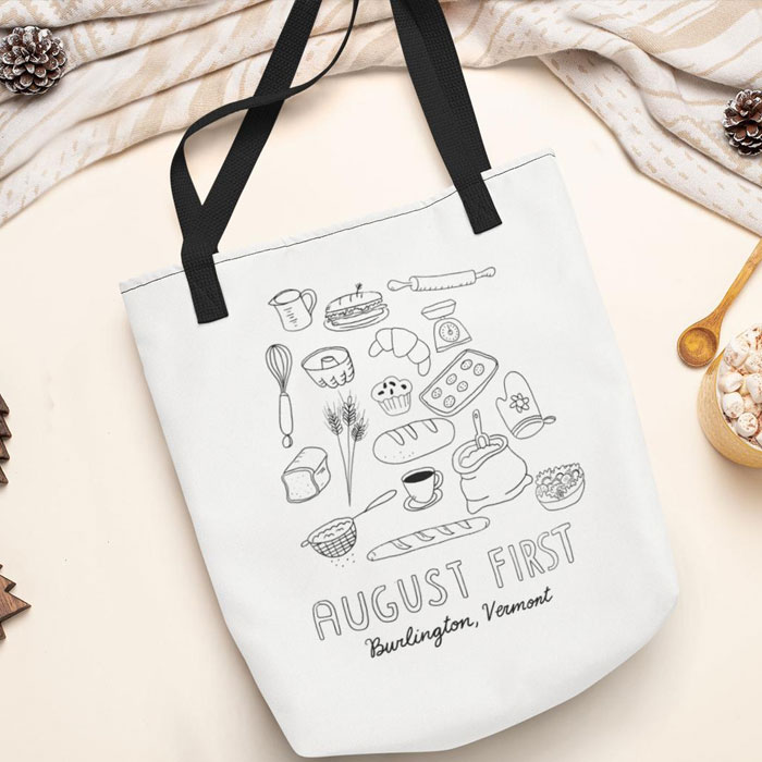 August First Doodle Tote Bag